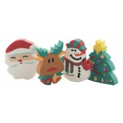 Flop Christmas eraser set