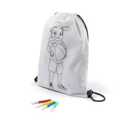 Colouring drawstring bag PILCO