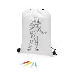 Colouring drawstring bag RULLO