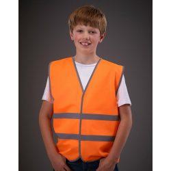 Kids Fluo Reflective Border Waistcoat