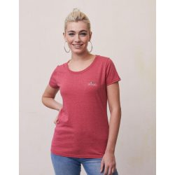 Ladies Vintage T Small Logo Print