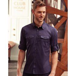 Men's Roll Sleeve Shirt Long Sleeve