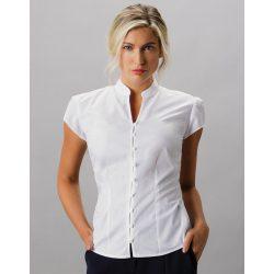 Women's Tailored Fit Mandarin Collar Blouse SSL