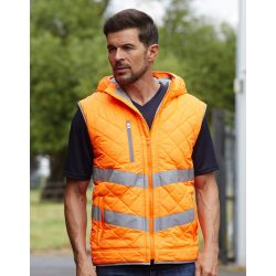 Fluo Kensington Hooded Gilet