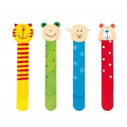 Wooden bookmarks FUNNY ANIMALS 4-times assorted, price per piece
