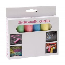 6 pieces of coloured chalk STREET