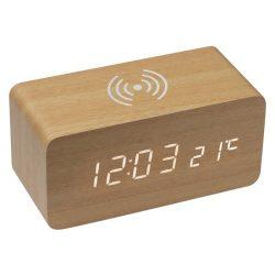 Ceas din lemn,cu incarcator wi