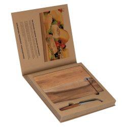 Placa lemn cu un cutit cascava