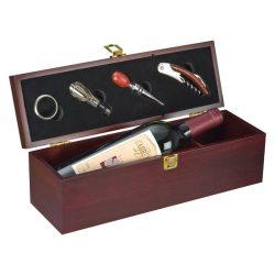Cutie lemn pt o sticla de vin