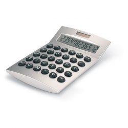 Calculator solar 12 cifre, Plastic, matt silver