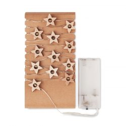 Snur cu 20 stelute luminoase, Item with multi-materials, wood