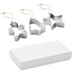 Set forme pentru biscuiti, Metal, matt silver