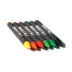 Set de 6 creioane cerate, Carton, multicolour