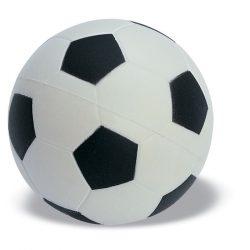 Jucarie anti-stres football, PU, white/black