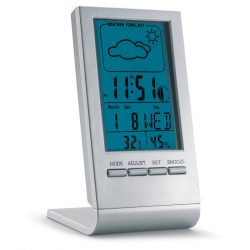 Statie meteo cu ecran LCD, Plastic, silver