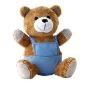 Urs plus cu tricou, Plush, blue