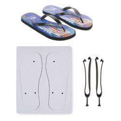 Papuci plaja pentru sublimare, Item with multi-materials, black