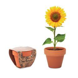 """Vas """"floarea soarelui"""", Item with multi-materials, wood"""