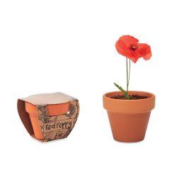 "Vas teracota ""mac"", Item with multi-materials, wood"