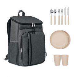 Geanta racire picnic 600D RPET, Item with multi-materials, black