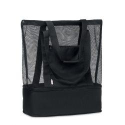 Sacosa din plasa 600D RPET, Item with multi-materials, black