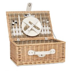 Cos picnic rachita 2 persoane, Item with multi-materials, wood