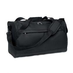 Geanta sport 600D RPET, Item with multi-materials, black