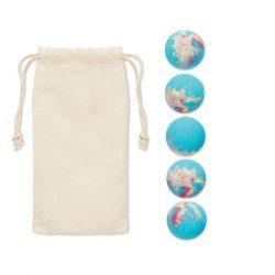 5 bile de baie efervescente, Item with multi-materials, multicolour
