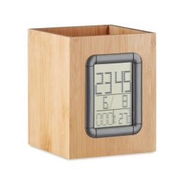 Suport din bambus si ceas LCD, Item with multi-materials, wood