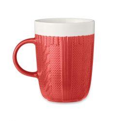 Cana ceramica 310 ml, Ceramics, red
