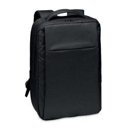 Rucsac laptop din 300D RPET, RPET, black