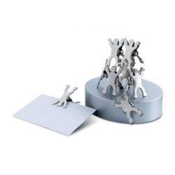 Suport magnetic  agrafe, Metal, matt silver