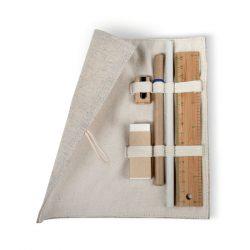 Set birou in saculet de iuta, Cotton, beige