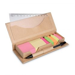 Set pentru birou in cutie, Paper, beige