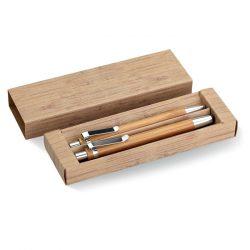 Set din pix si creion bambus, Bamboo, wood