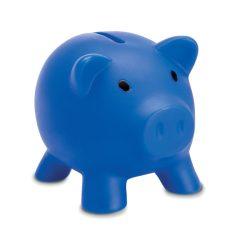 Pusculita in forma de porcusor, Plastic, blue
