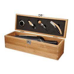 Cutie pentru sticla de vin, Item with multi-materials, wood
