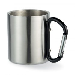 Cana cu perete dublu, Stainless steel, black