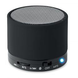 Boxa rotunda wireless, Item with multi-materials, black