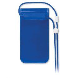 Husp impermeabila smartphone, PVC, transparent blue