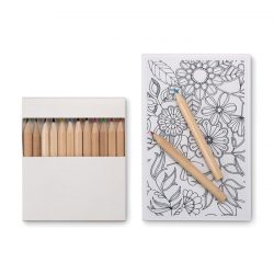Set de colorat pentru adulti, Item with multi-materials, white