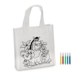 Mini-geanta cumparaturi, Non woven, white