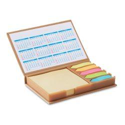 Set birou notite si calendar, Paper, beige