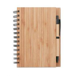 Carnet din bambus cu pix, Item with multi-materials, wood