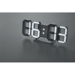 Ceas de perete LED cu adaptor, Item with multi-materials, white