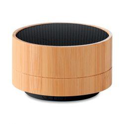 Boxa wireless din bambus 3W, Item with multi-materials, black