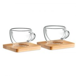 2 pahare expresso perete dublu, Item with multi-materials, transparent