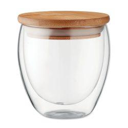 Pahar cu perete dublu 250 ml, Item with multi-materials, transparent