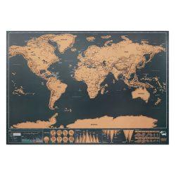 Harta lumii razuibila 42x30 cm, Paper, beige