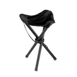 Scaun pliabil pentru exterior, Polyester, black